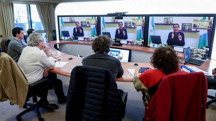 FOTO: El presidente mantuvo una teleconferencia con gobernadores.