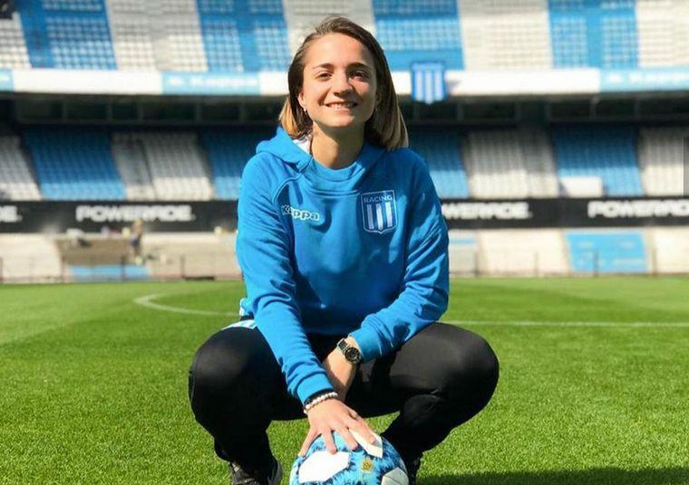 """AUDIO: Bacci, jugadora de Racing: """"Luchamos para que el fútbol no sea solo de hombres""""."""