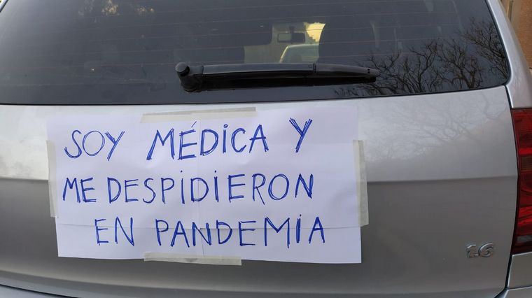 FOTO: Caravana de los trabajadores de la salud en Córdoba.