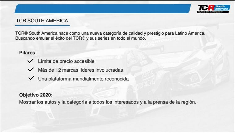 FOTO: El concepto técnico de TCR.