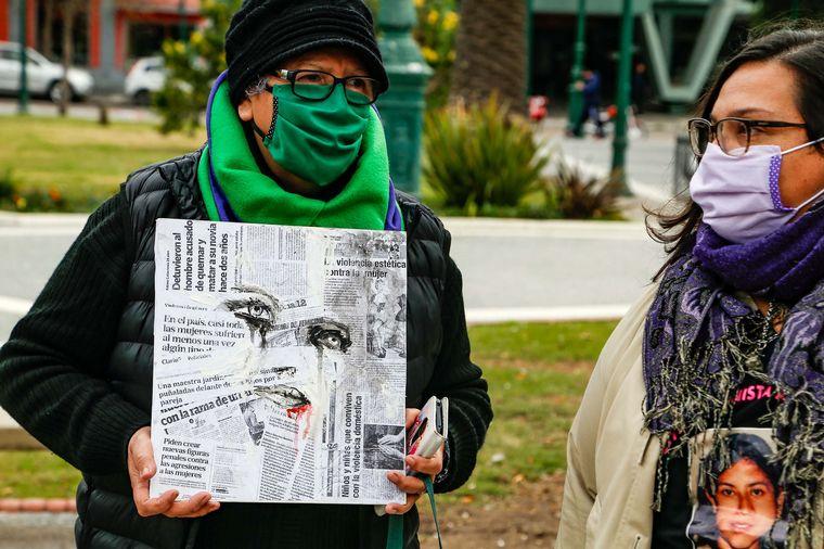 FOTO: Marcha Ni una Menos en Bahía Blanca.