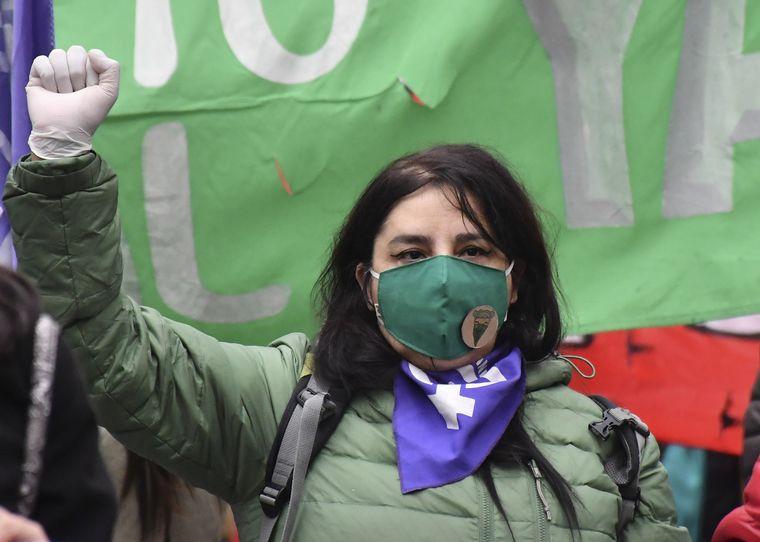 FOTO: Marcha Ni una Menos en Rio Negro.
