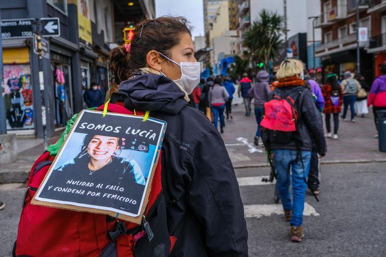 FOTO: Marcha Ni una Menos en Mar del Plata.