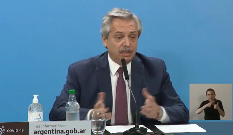 FOTO: Alberto Fernández encabezó la conferencia de prensa.
