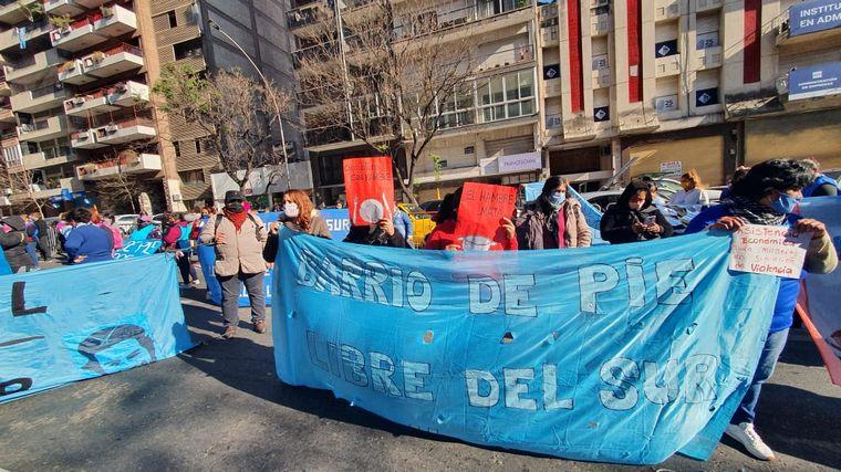 FOTO: Caos de tránsito en el Centro de Córdoba por protestas.