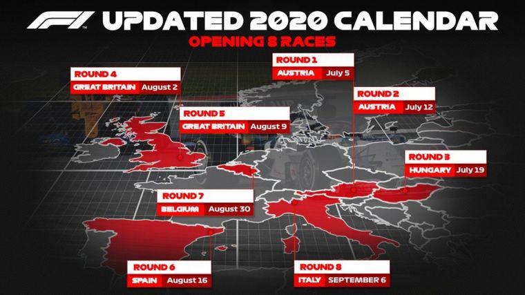FOTO: Hoy se anunció la nueva baja de 4 GP's del calendario 2020 de F1