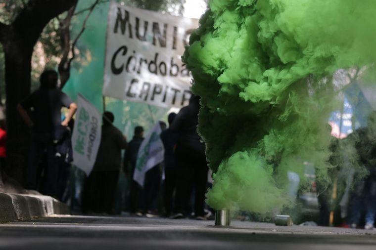 FOTO: Tensión por la marcha del Suoem en Córdoba.