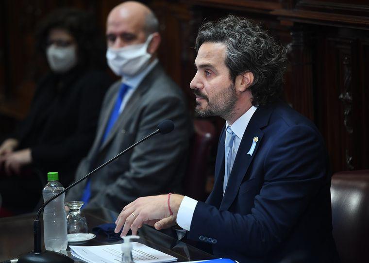 FOTO: Cafiero, en la presentación de su primer informe de gestión en el Congreso.