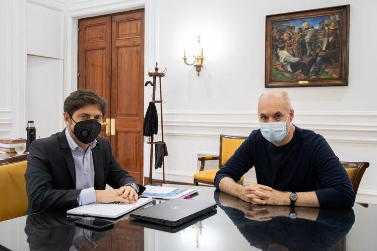 FOTO: Axel Kicillof y Horacio Rodríguez Larreta