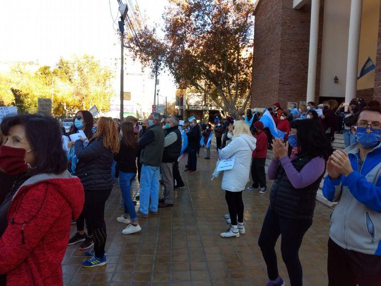 FOTO: Los sanjuaninos también marcharon contra la expropiación de Vicentin.