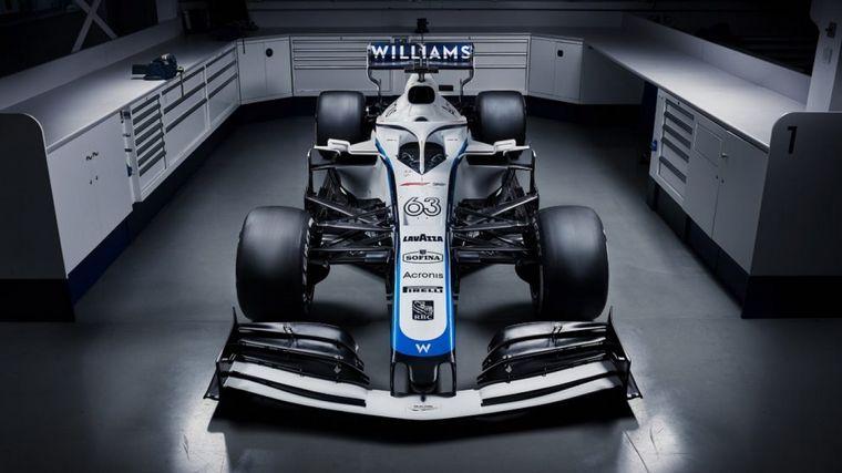 FOTO: El nuevo diseño del FW43 mantiene el blanco con líneas celestes y azul oscuro