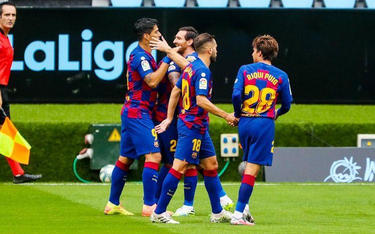 FOTO: El Celta de Vigo le empató al Barcelona sobre el final.