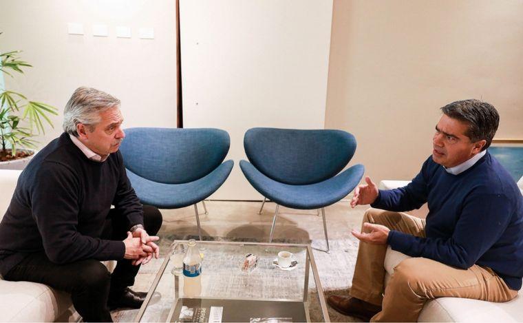 FOTO: Fernández hará una videoconferencia con Capitanich.