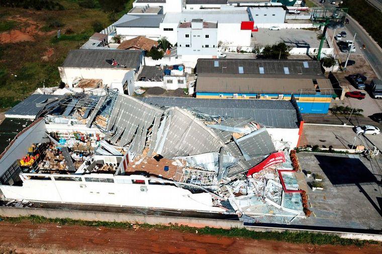 FOTO: Ciclón en Brasil