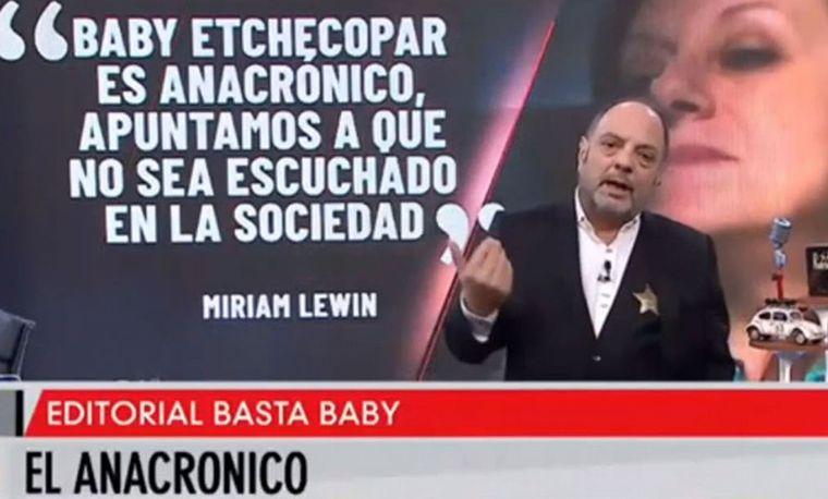 Baby Etchecopar, a Miriam Lewin: ¿Me va a desaparecer?