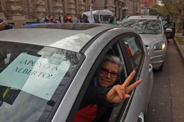 FOTO: Movilización a favor de la intervención de Vicentin en Rosario.