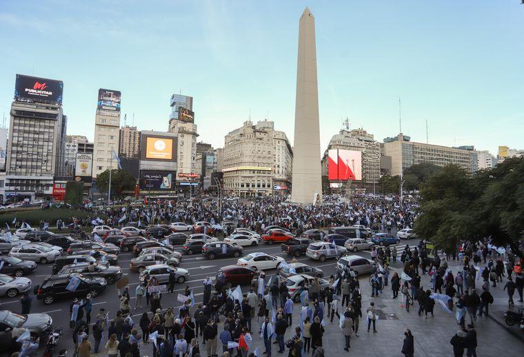 FOTO: Marchas en todo el país en contra del Gobierno de Alberto Fernández.