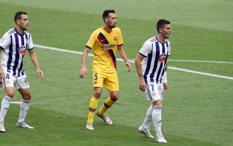 FOTO: Sin lucirse, Barcelona venció a Valladolid por 1-0.