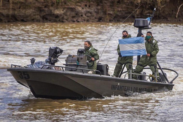 FOTO: Brigadistas se sumaron al combate del fuego en el Paraná.