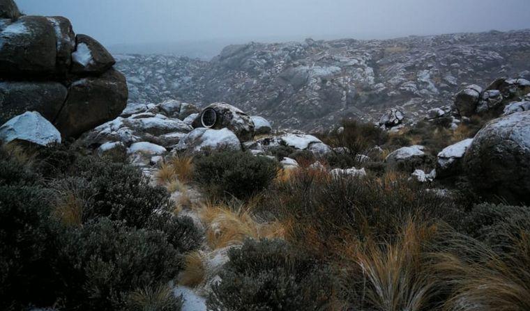 FOTO: Las Altas Cumbres amanecieron nevadas