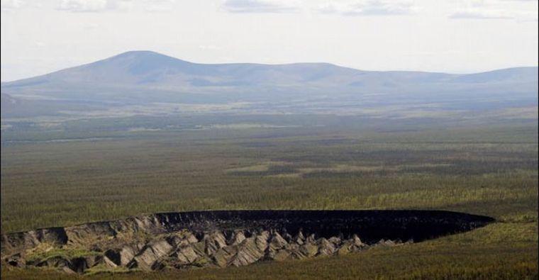 FOTO: El cráter de Batagaika en la República de Sajá, Rusia.