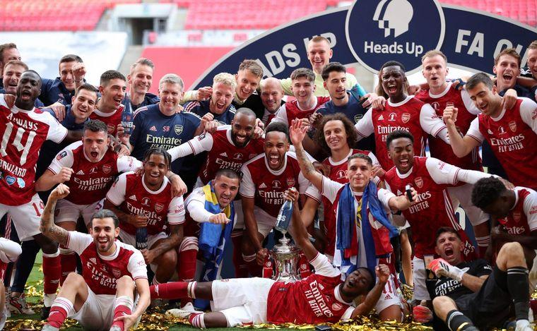 FOTO: Arsenal se consagró campeón de FA Cup.