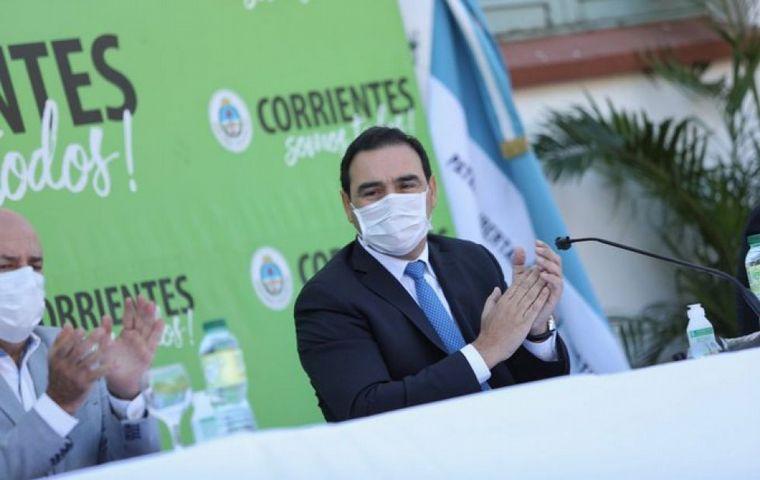 FOTO: El gobernador radical, Gustavo Valdés, se diferencia del Gobierno nacional.
