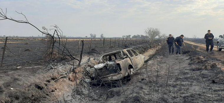 FOTO: Dramático incendio en un campo de Bella Italia (Fotos: Twitter).