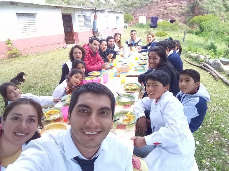 FOTO: La escuela de alta montaña en Las Arquitas, Tucumán.