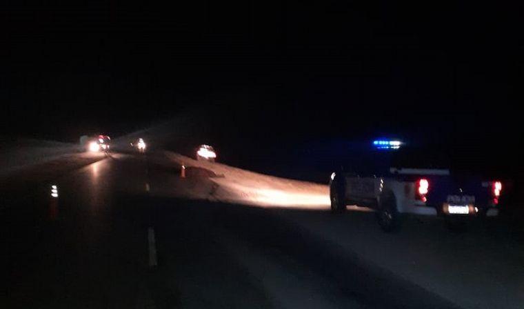 FOTO: Accidente fatal en ruta 13 entre un auto y un caballo.