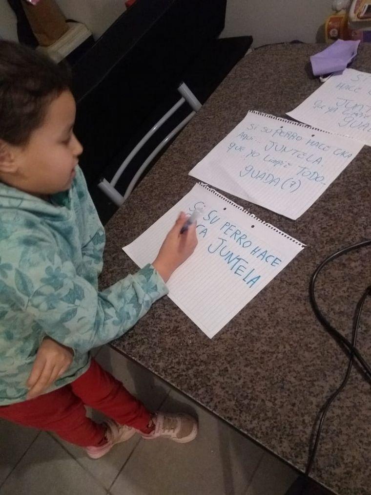 AUDIO: Con 7 años, limpió la plaza y pegó carteles para los vecinos