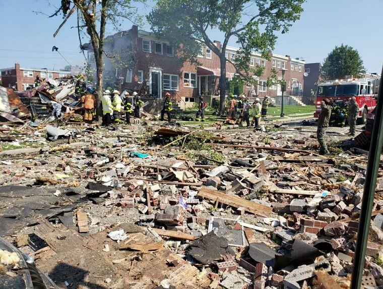 FOTO: Explosión en Baltimore, Estados Unidos
