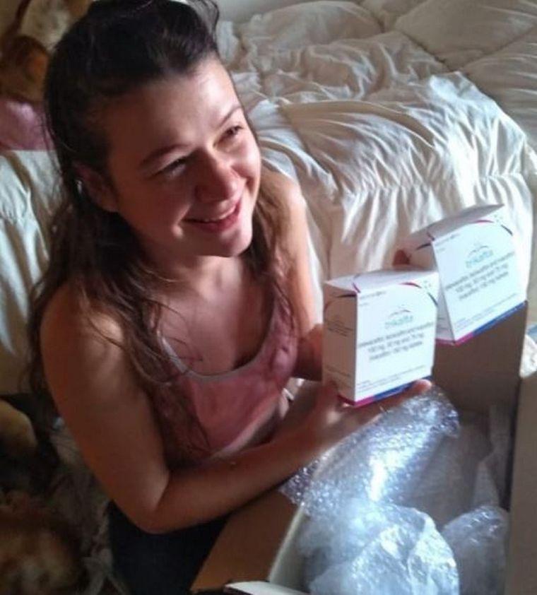 FOTO: Sabrina Monteverde comienza el procesos para tratar la fibrosis quística.