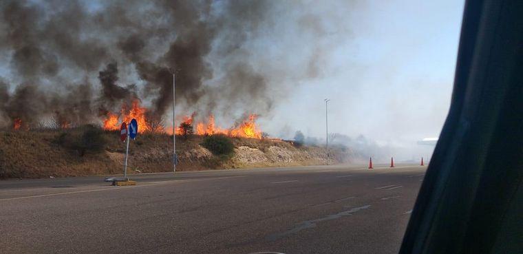 AUDIO: Contuvieron el incendio de La Calera