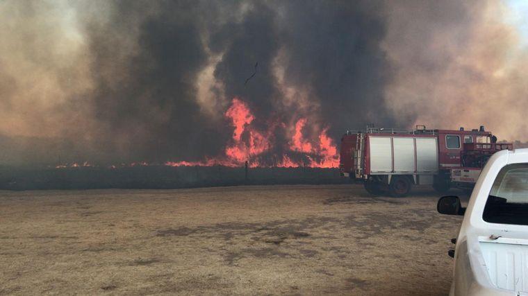 FOTO: Incendio en La Calera.