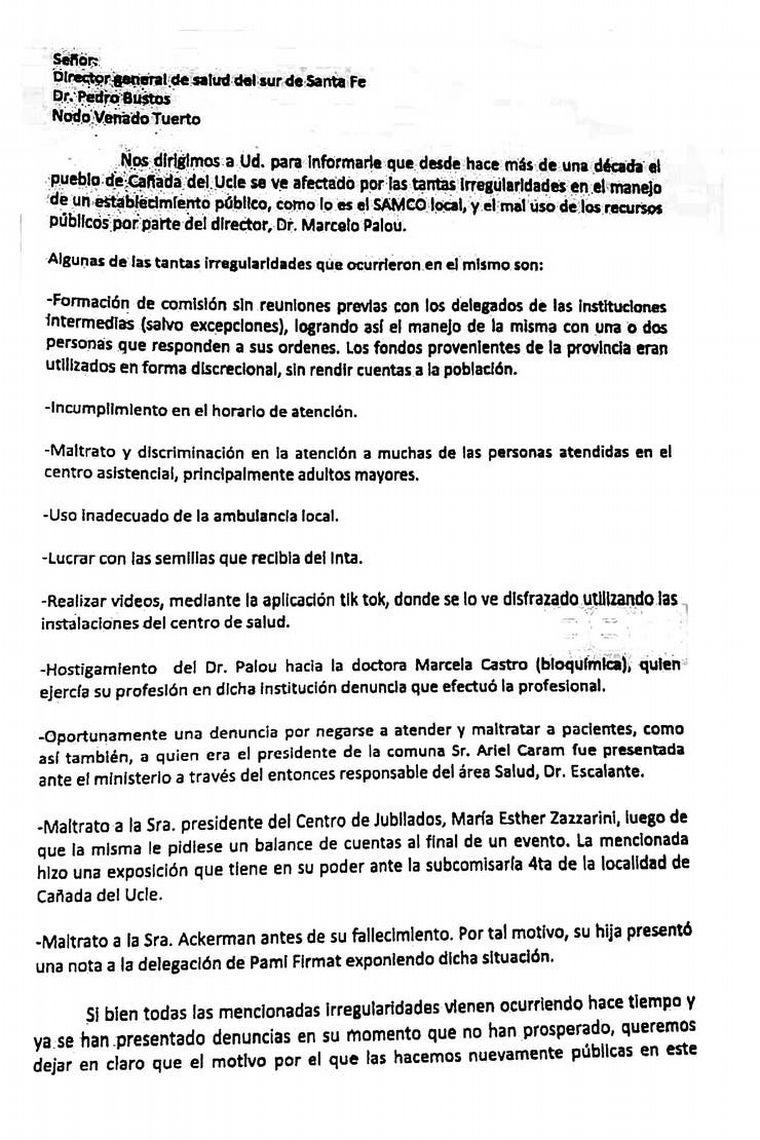 FOTO: Vecinos piden renuncia de médico de Cañada del Ucle (Fotos: La Nación).
