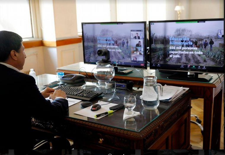 FOTO: El ministro de Desarrollo Social, Daniel Arroyo, encabezó la reunión.