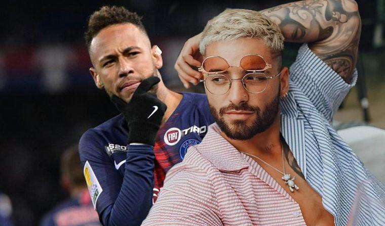 Neymar se burla de Maluma por canción dedicada a Natalia Barulich