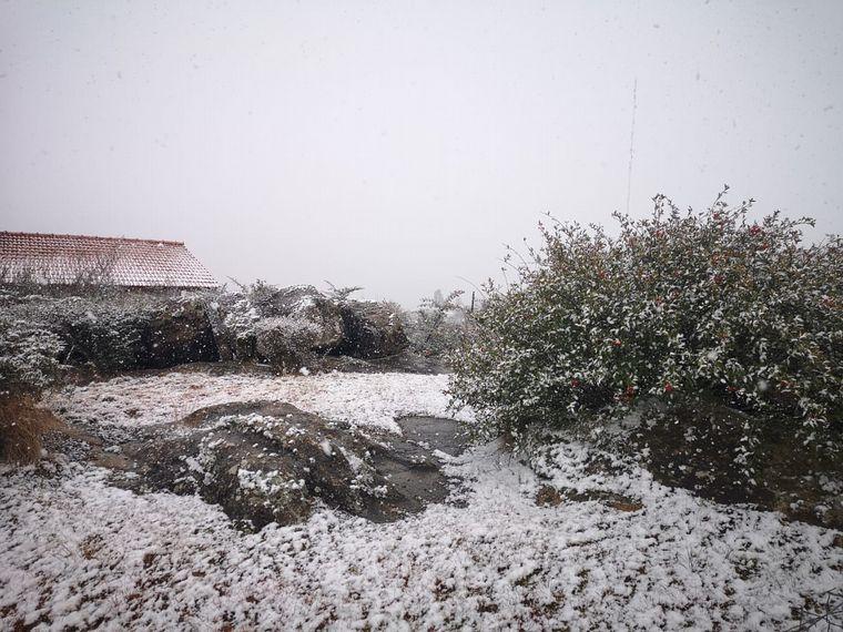 FOTO: Frío intenso en Córdoba: nieva en las Altas Cumbres.