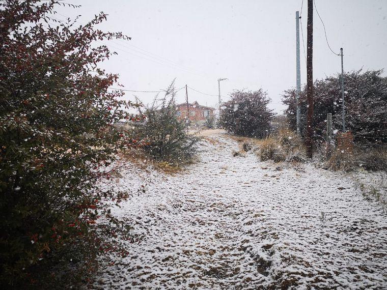 FOTO: También cayó nieve en La Cumbrecita.