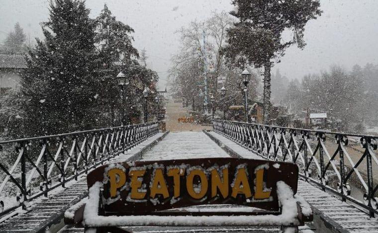 FOTO: Nieve en La Cumbrecita.