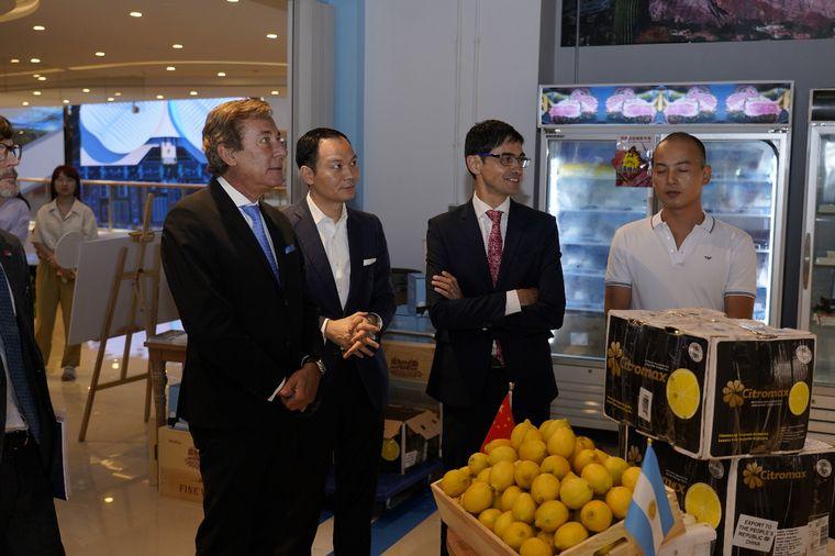 FOTO: Se realizó la recepción oficial de limones argentinos en Shanghai, China
