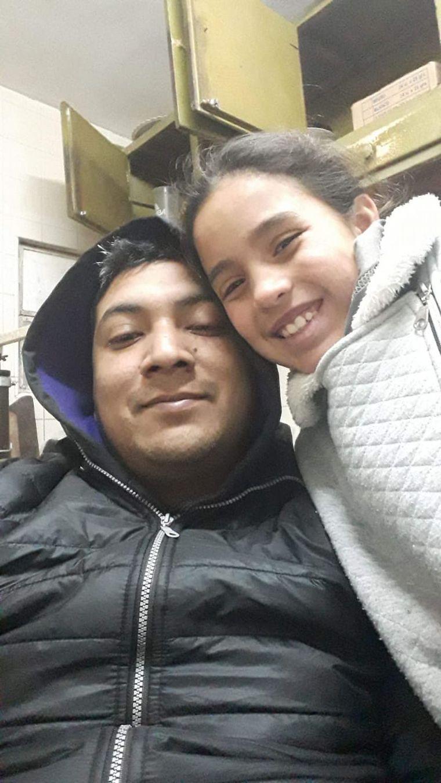 FOTO: Priscila le salvó la vida a su papá Claudio, herido por una amoladora.