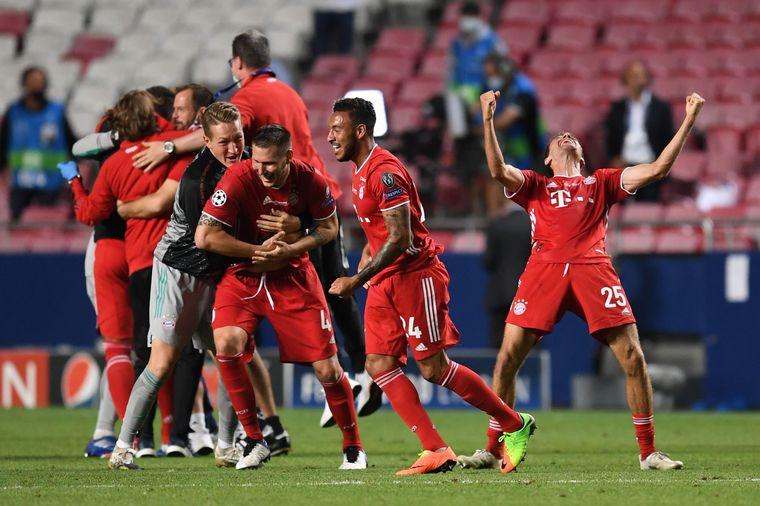 FOTO: Coman rompió el cero en Lisboa.