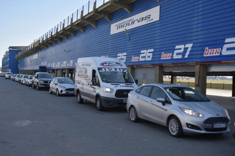FOTO: Leonel Pernía hoy en el procedimiento de testeos en Turismo Carretera.