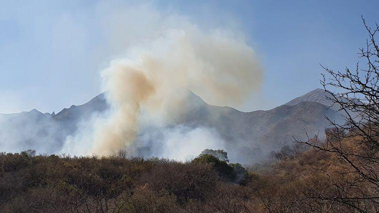 FOTO: El peor foco estaba en el norte de Punilla.