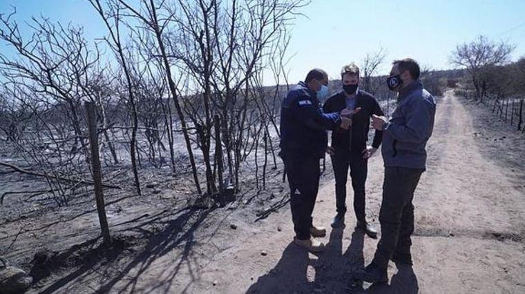 FOTO: Cabandié recorrió áreas afectadas por incendios forestales.