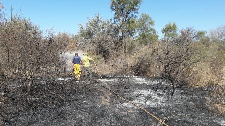 FOTO: Un hombre fue detenido en Bañado de Soto por incendiar su campo