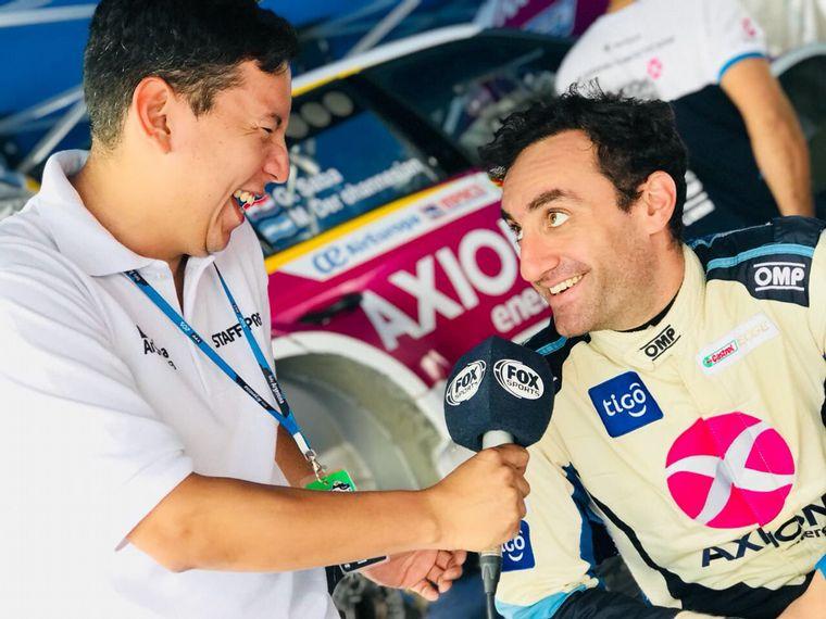 FOTO: El cordobés de Carlos Paz, Omar Avila en WRC TV en Estonia.