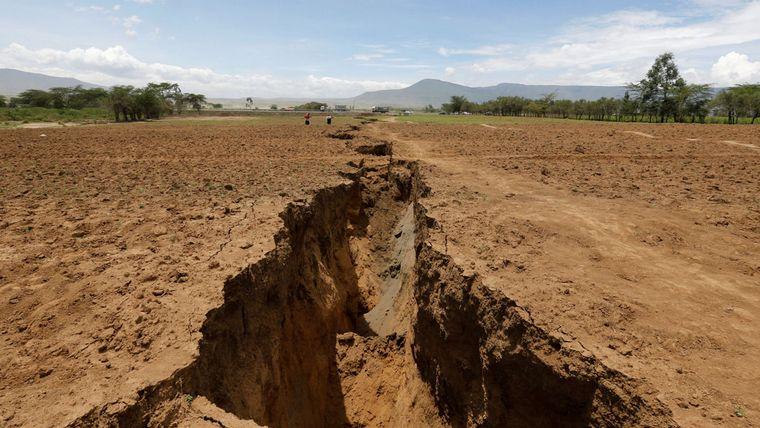 FOTO: La grieta de Kenia que dividirá a África en dos.